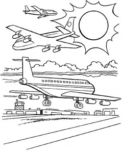 kleurplaat Vliegtuig (16)