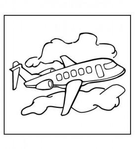 kleurplaat Vliegtuig (17)