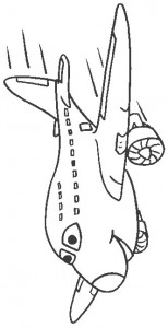kleurplaat Vliegtuig (2)