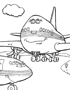 kleurplaat Vliegtuig (5)