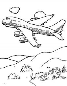 kleurplaat Vliegtuig (6)