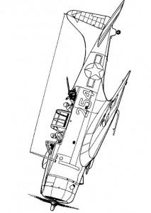 målarbok Flygplan andra världskriget