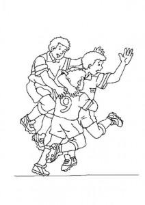 kleurplaat Voetbal (2)