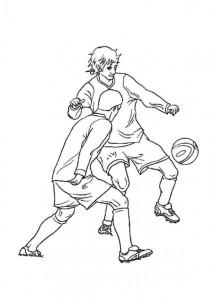 kleurplaat Voetbal (5)