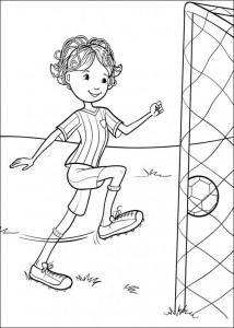 coloring page Fotballer (2)