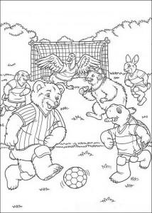 målarbok Fotbollar
