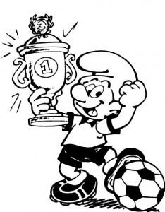 målarbok Soccer Smurf