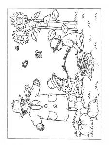 coloring page Bird scraper
