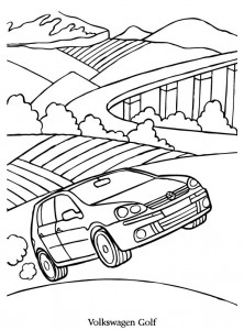 coloriage volkswagen golf