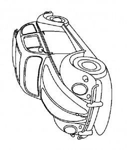 раскраска Volkswagen Beetle (1)