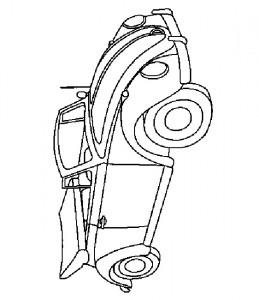 kleurplaat Volkswagen Kever Cabriolet
