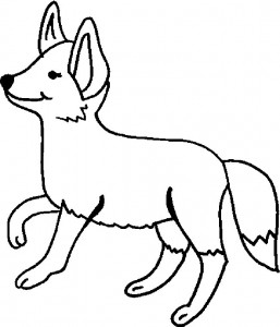 coloring page Foxes (10)