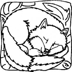 coloring page Foxes (12)