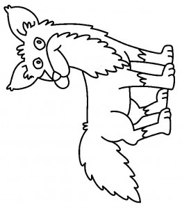 coloring page Foxes (13)