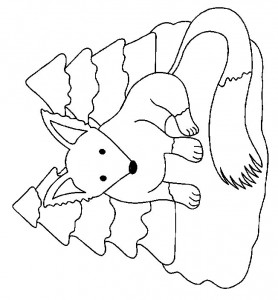 coloring page Foxes (15)