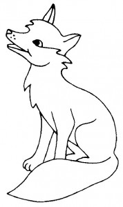 coloring page Foxes (17)