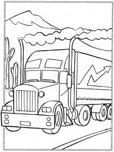 kleurplaat Vrachtwagens (2)