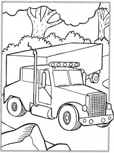 kleurplaat Vrachtwagens (3)