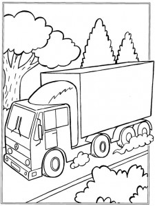 coloring page Trucks (4)