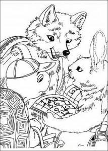 Dibujo para colorear Amigos (2)