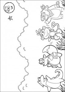 coloring page Friends of Dora