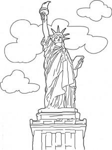 målarbok Statue of Liberty, New York