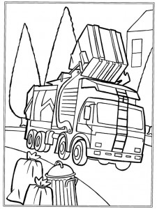 coloring page Garbage truck