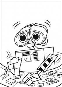kleurplaat Wall-e (54)