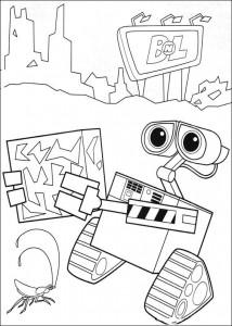 coloring page wall-e