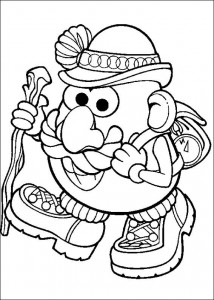 coloring page Walking