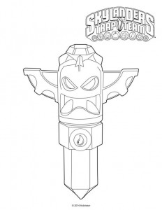 water tiki crystal trap coloring page
