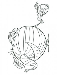watermelophant coloring page