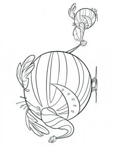 vattenmelofant målarbok