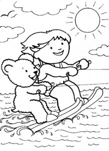 coloring page Water skiing (2)