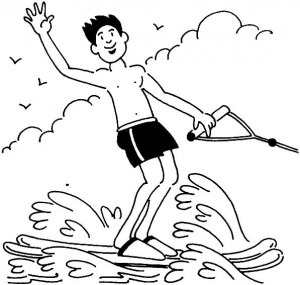 coloring page Water skiing (3)