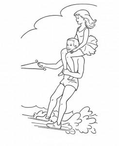 målarbok Vattenskidåkning (5)