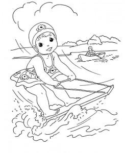 målarbok Vattenskidåkning (6)