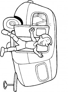coloring page Get rid of the caravan