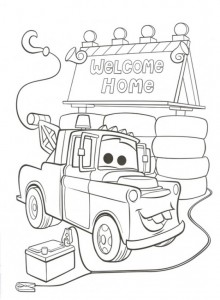 målarbok Välkommen hem