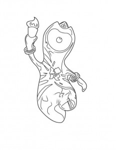 coloring page wenlock torch