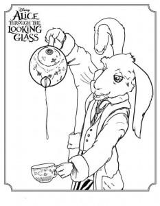 kleurplaat White Rabbit (1)