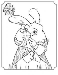 kleurplaat White Rabbit 2