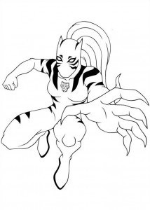 coloring page white tiger 2