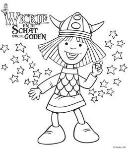 coloring page Wickie and the treasure of the gods