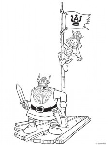 kleurplaat Wicky de Viking (1)