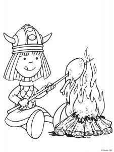 kleurplaat Wicky de Viking (17)