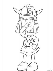kleurplaat Wicky de Viking (21)