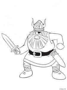 kleurplaat Wicky de Viking (5)