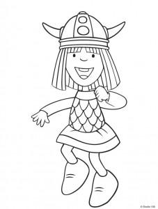kleurplaat Wicky de Viking (8)