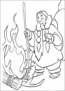 coloring page Indian way
